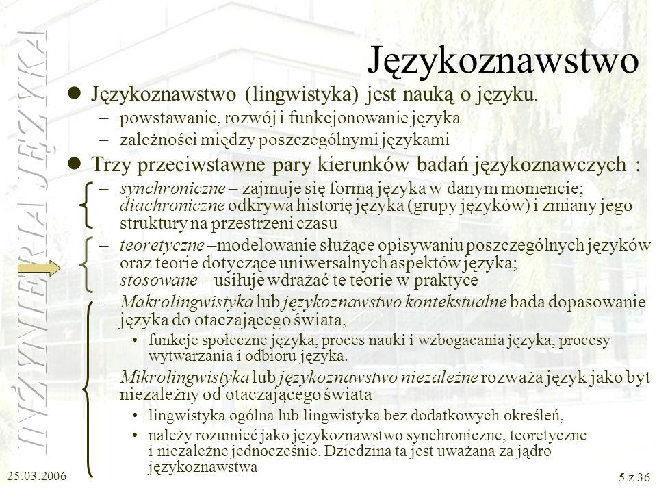 Językoznawstwo Językoznawstwo (lingwistyka) jest nauką o języku.