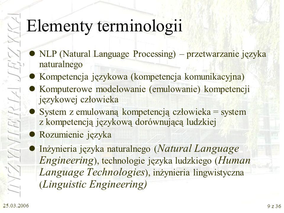 Elementy terminologii