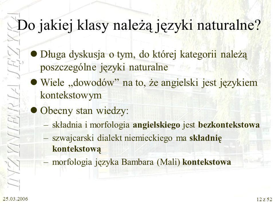 Do jakiej klasy należą języki naturalne