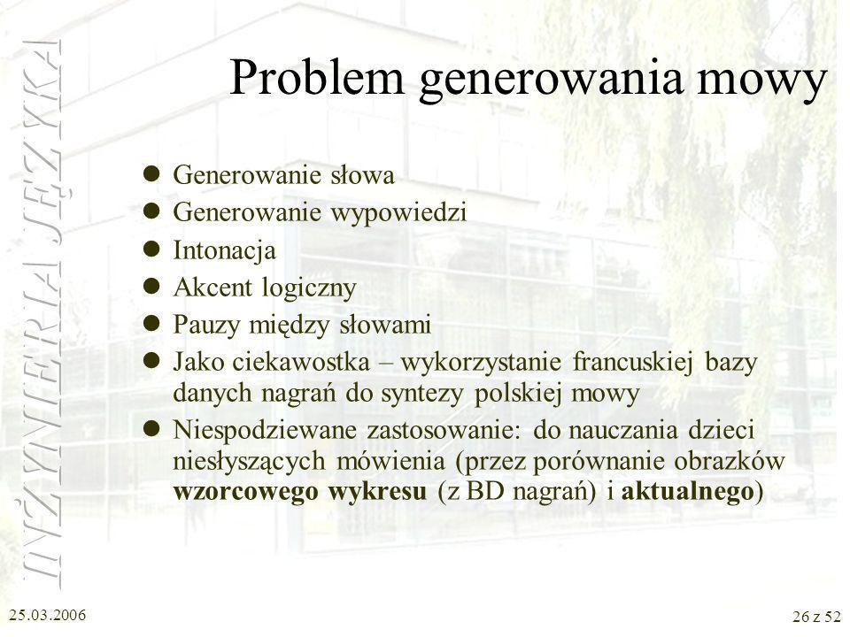 Problem generowania mowy