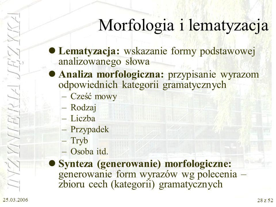 Morfologia i lematyzacja