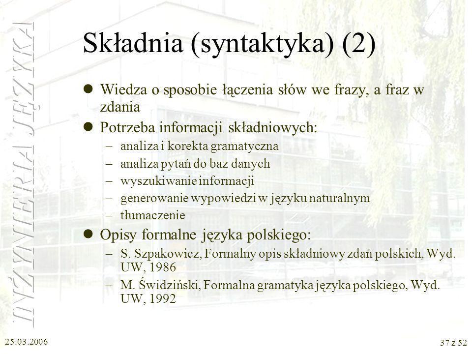 Składnia (syntaktyka) (2)