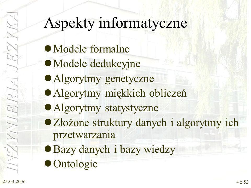 Aspekty informatyczne