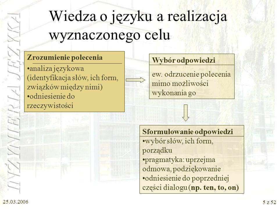 Wiedza o języku a realizacja wyznaczonego celu