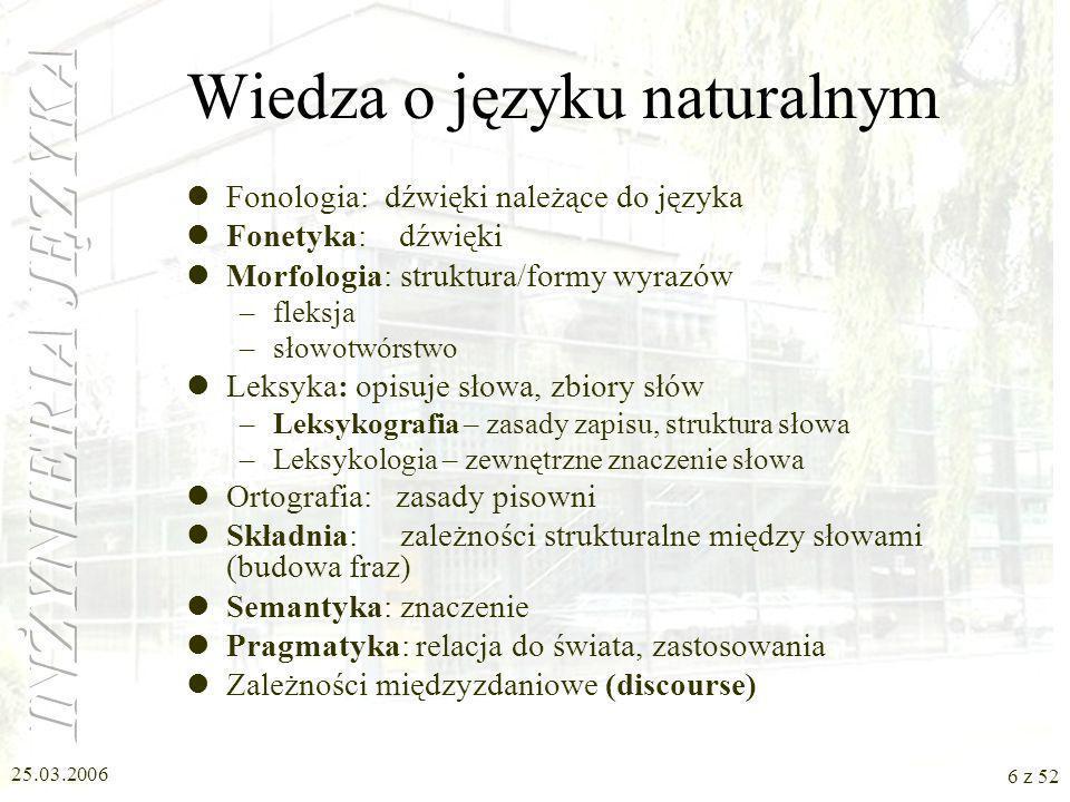 Wiedza o języku naturalnym