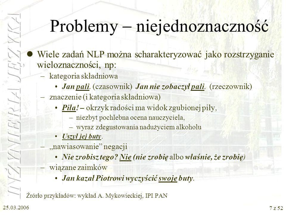 Problemy  niejednoznaczność