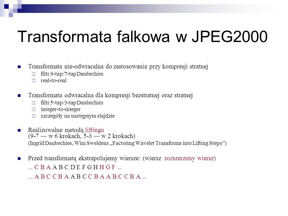 Transformata falkowa w JPEG2000