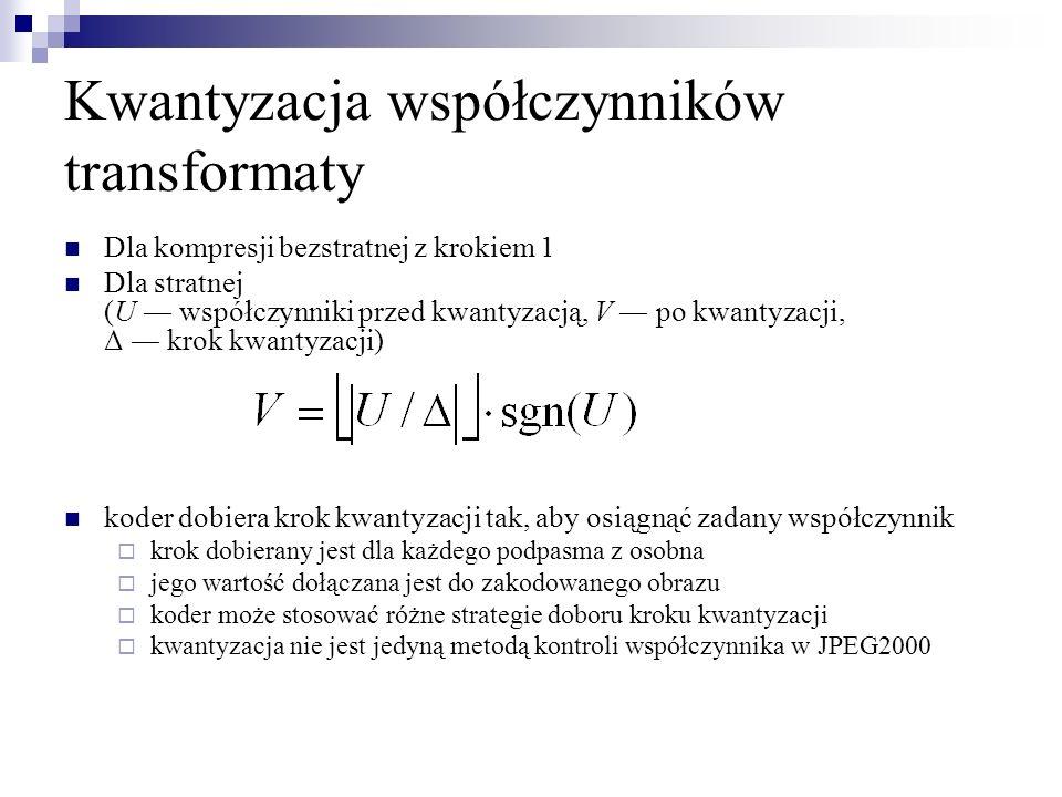 Kwantyzacja współczynników transformaty