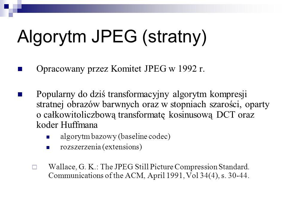 Algorytm JPEG (stratny)