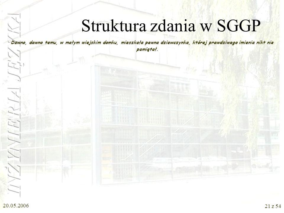 Struktura zdania w SGGP