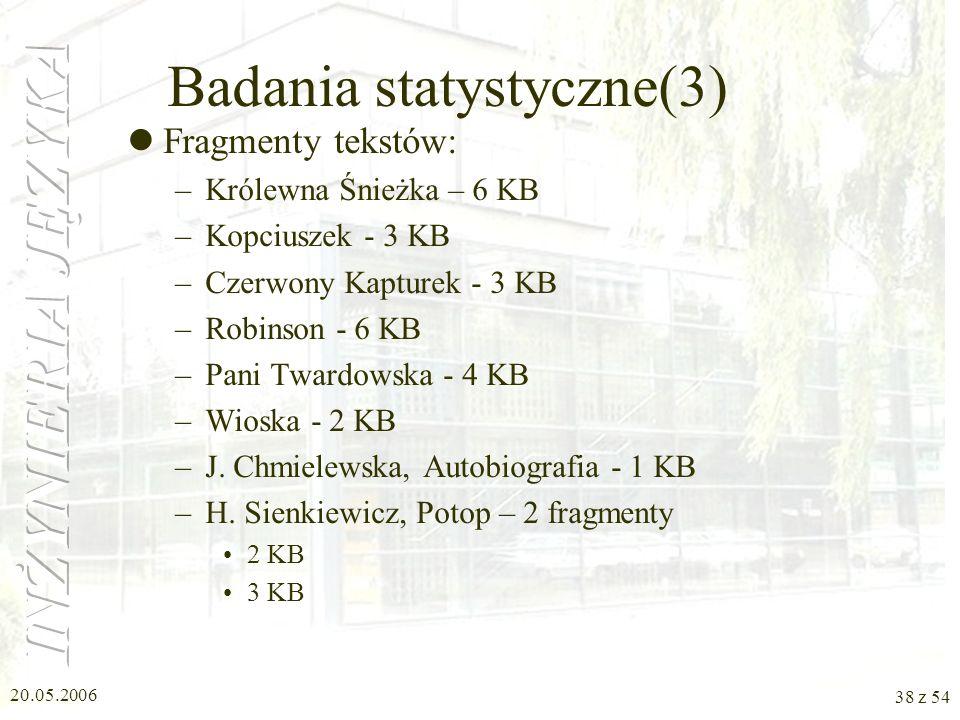 Badania statystyczne(3)