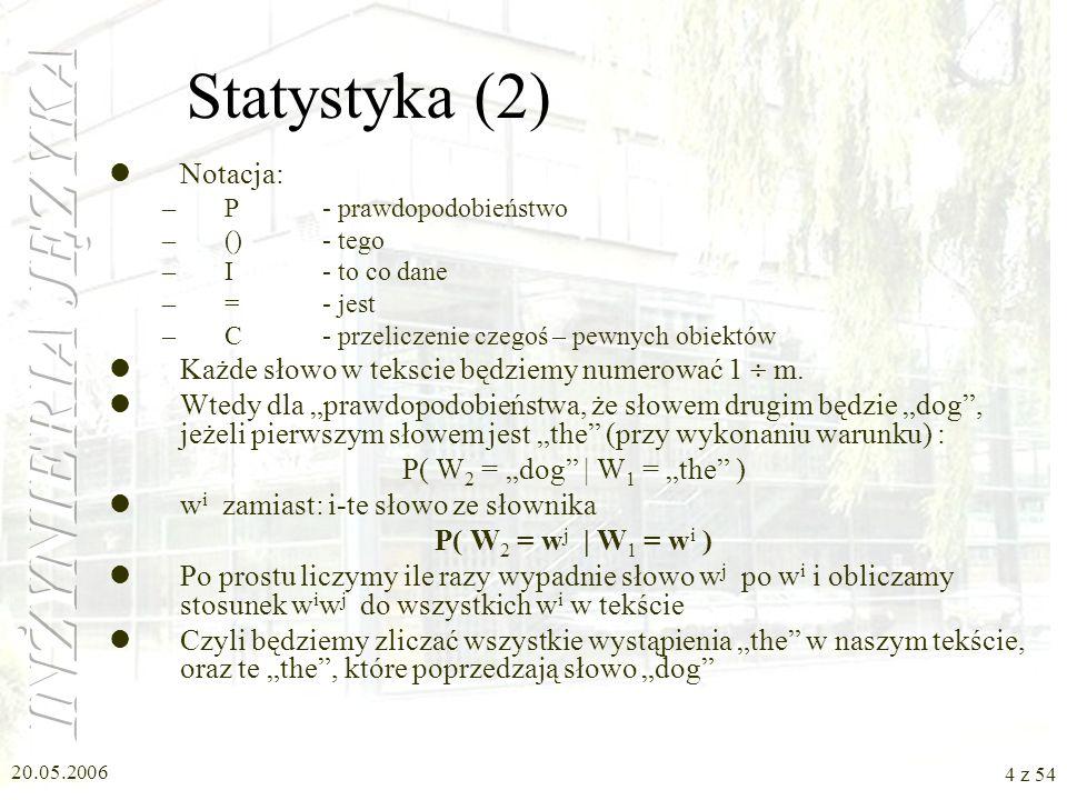 Statystyka (2) Notacja: