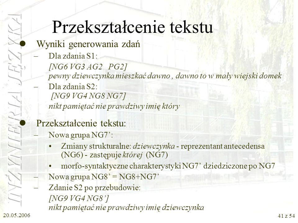 Przekształcenie tekstu