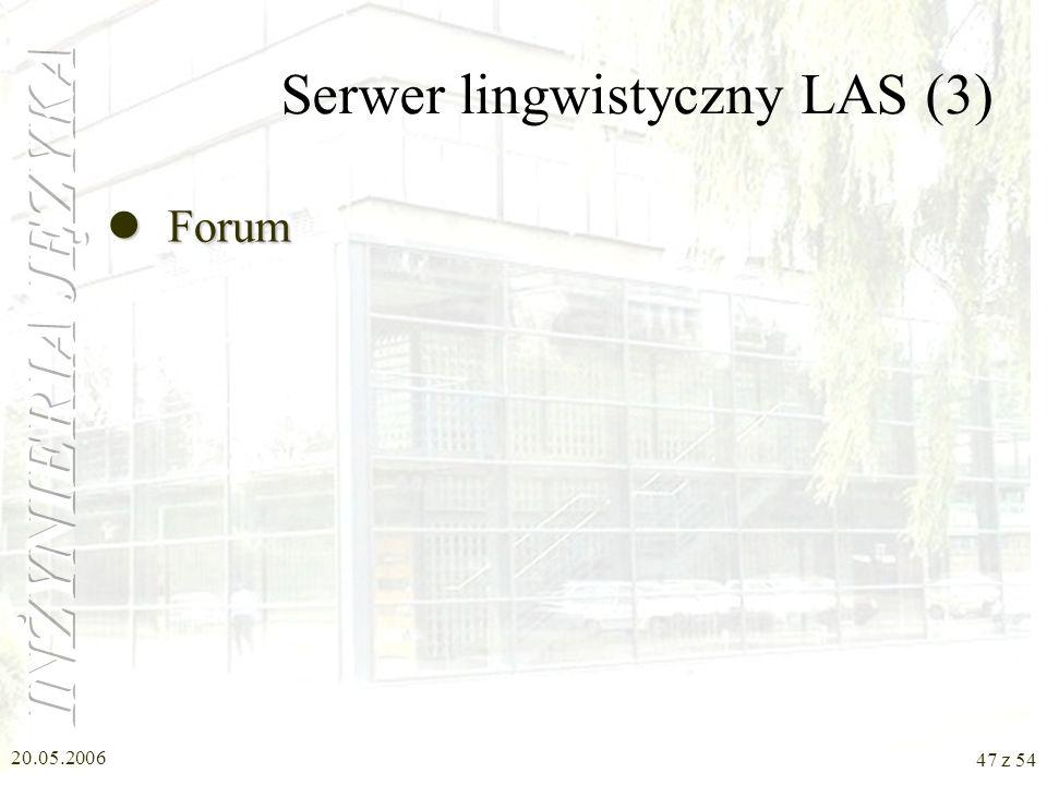 Serwer lingwistyczny LAS (3)