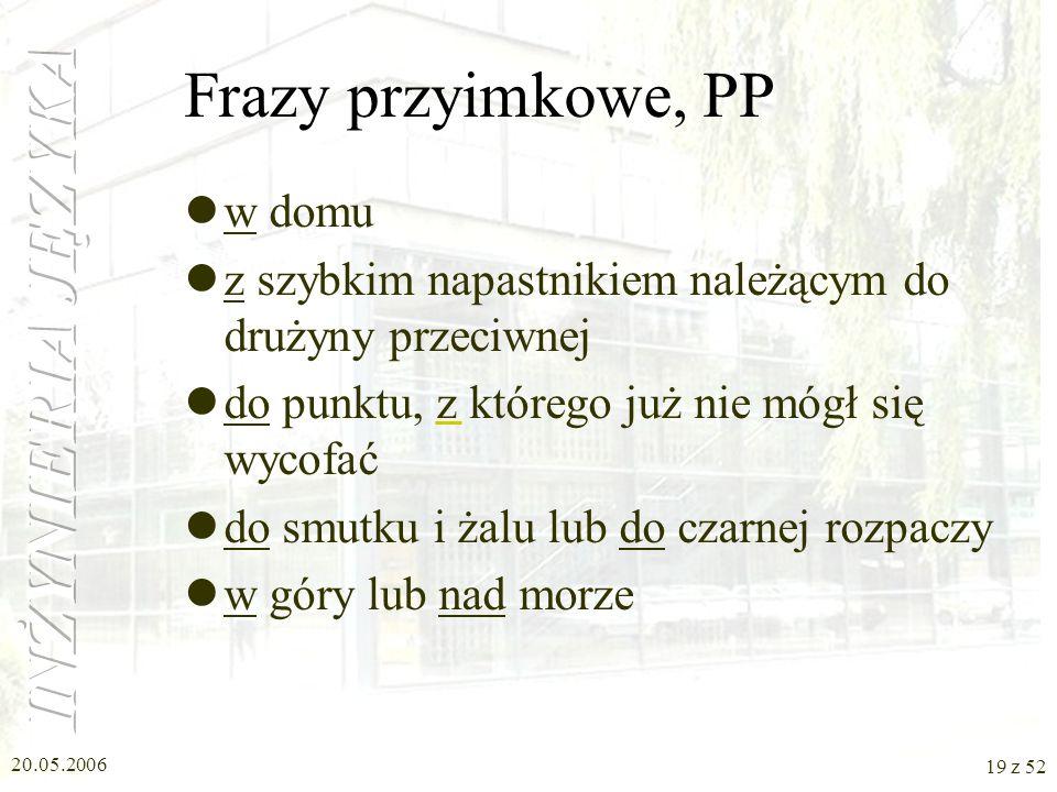 Frazy przyimkowe, PP w domu