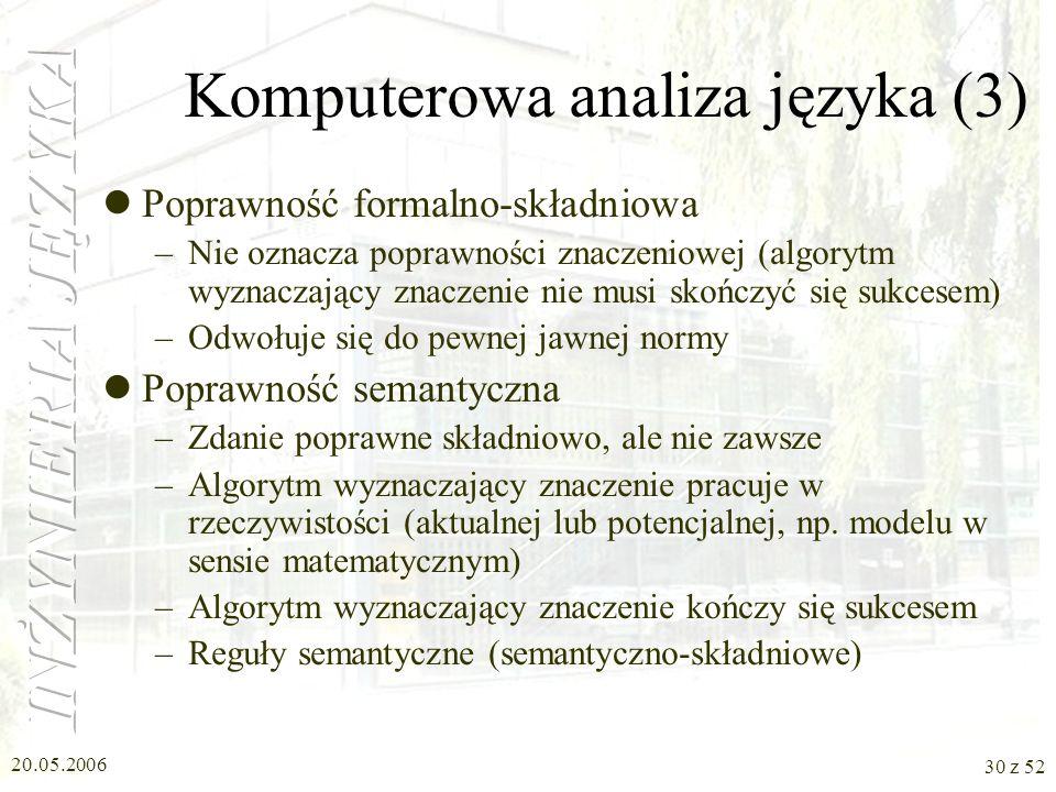 Komputerowa analiza języka (3)