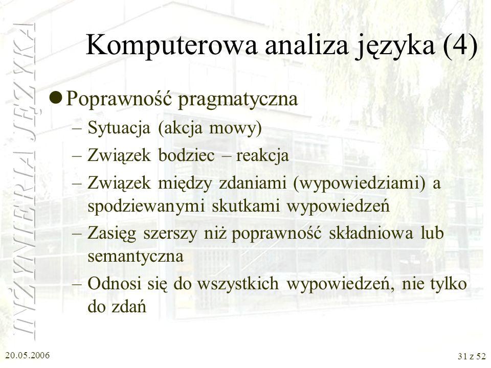 Komputerowa analiza języka (4)