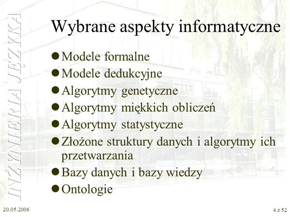 Wybrane aspekty informatyczne