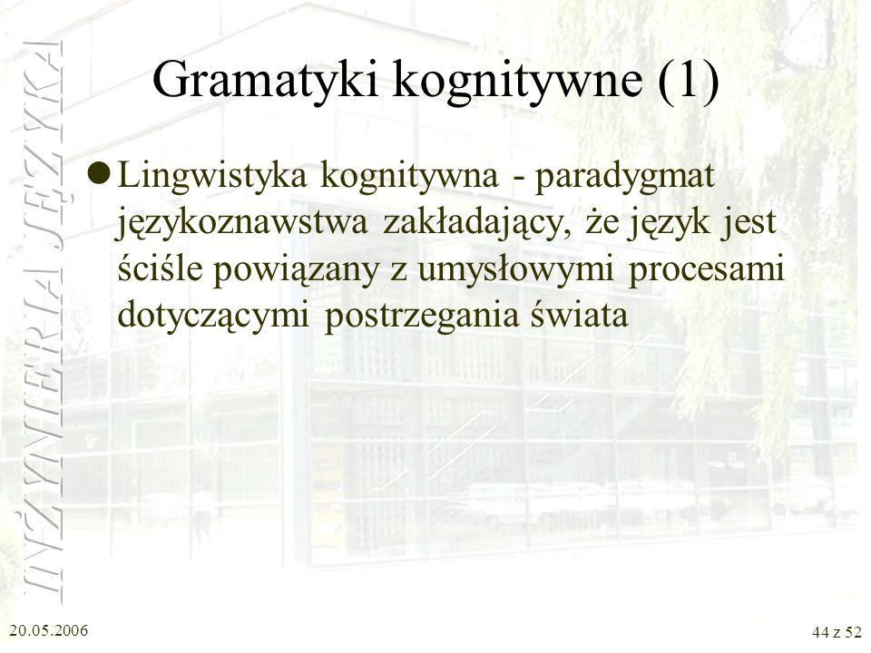 Gramatyki kognitywne (1)