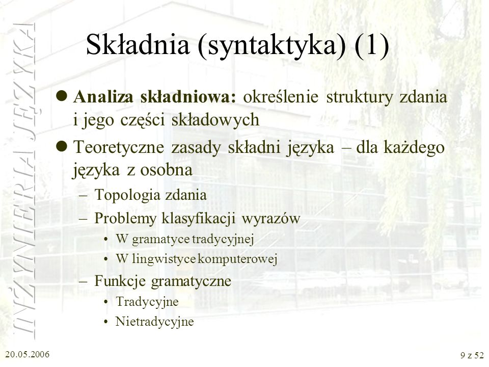 Składnia (syntaktyka) (1)