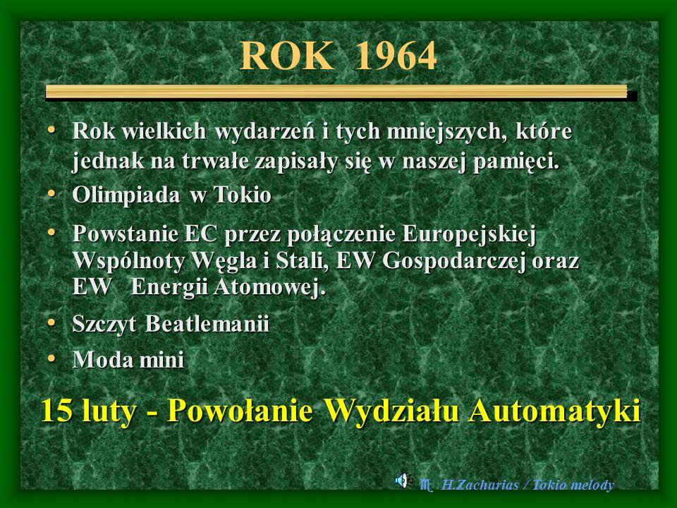 ROK 1964 15 luty - Powołanie Wydziału Automatyki