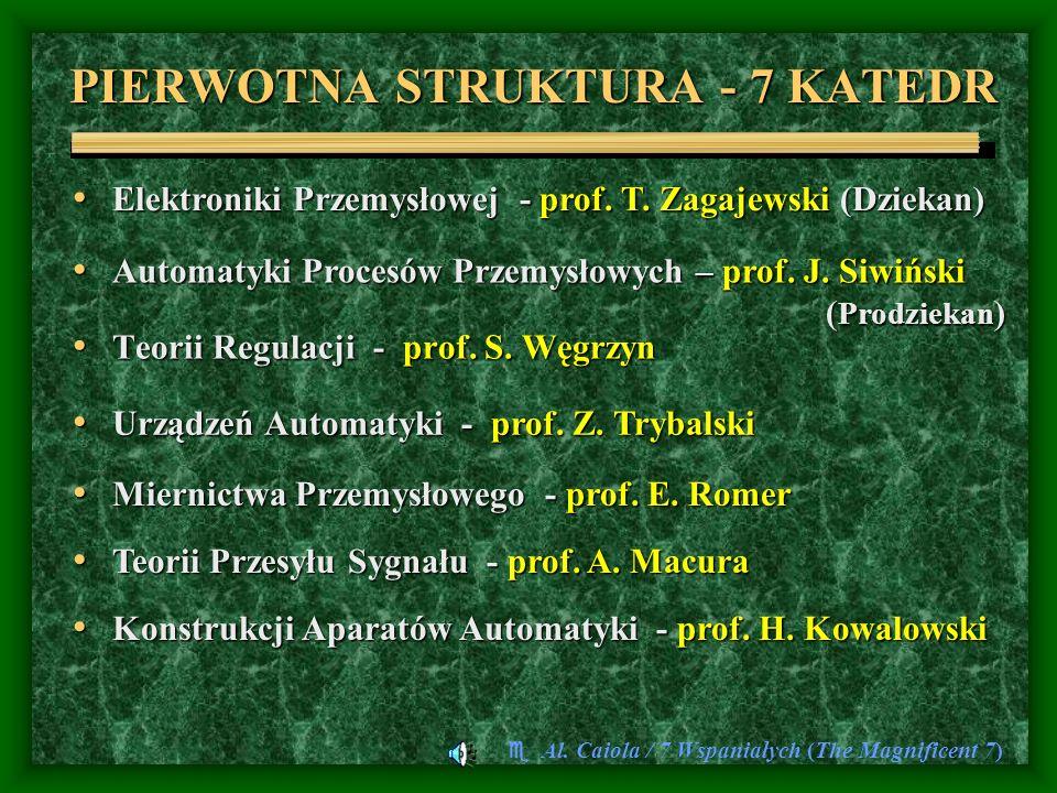 PIERWOTNA STRUKTURA - 7 KATEDR