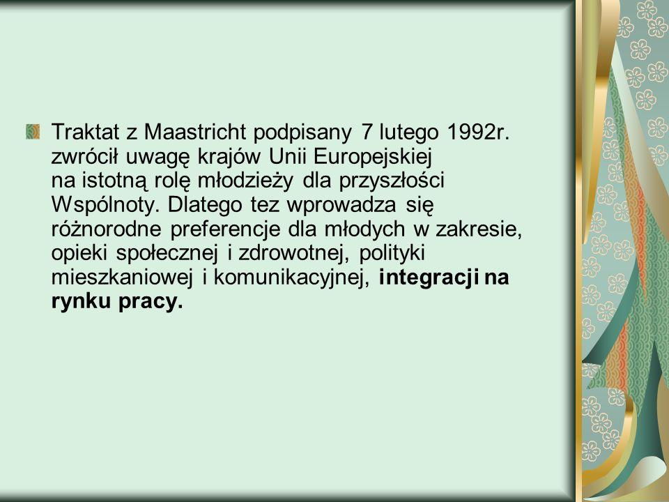 Traktat z Maastricht podpisany 7 lutego 1992r