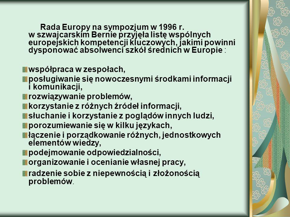 Rada Europy na sympozjum w 1996 r