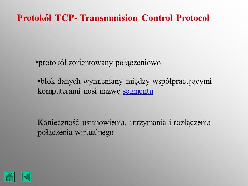 Protokół TCP- Transmmision Control Protocol
