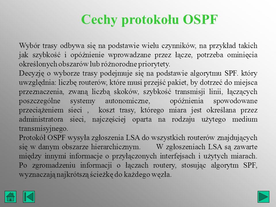 Cechy protokołu OSPF