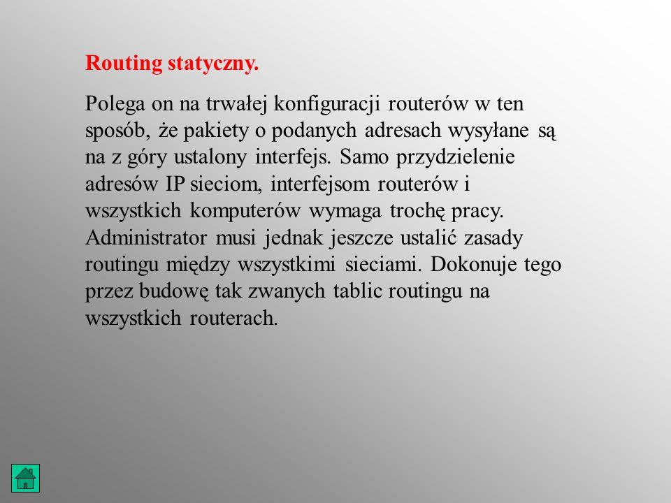 Routing statyczny.