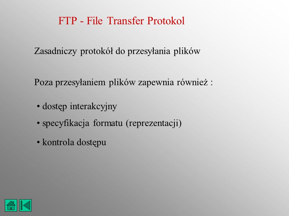 FTP - File Transfer Protokol