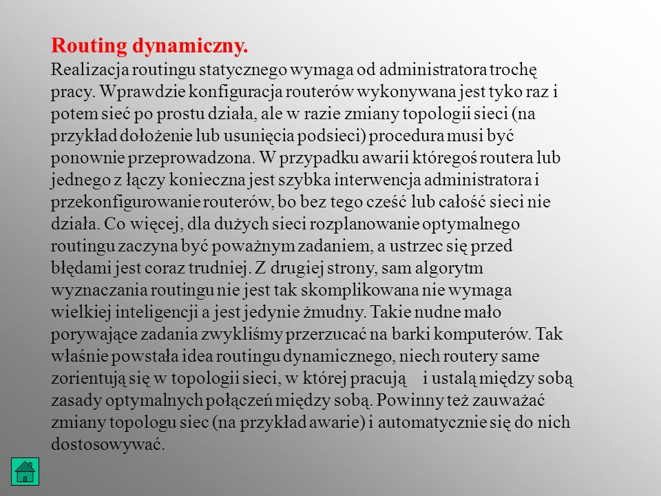 Routing dynamiczny.