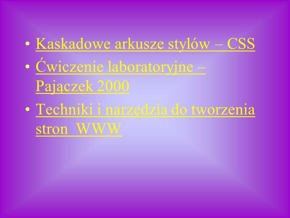 Kaskadowe arkusze stylów – CSS