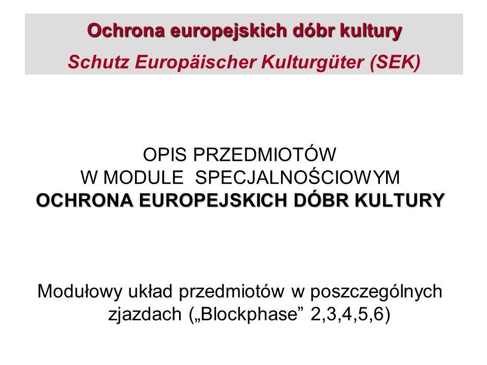 OCHRONA EUROPEJSKICH DÓBR KULTURY