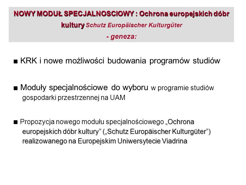 ■ KRK i nowe możliwości budowania programów studiów