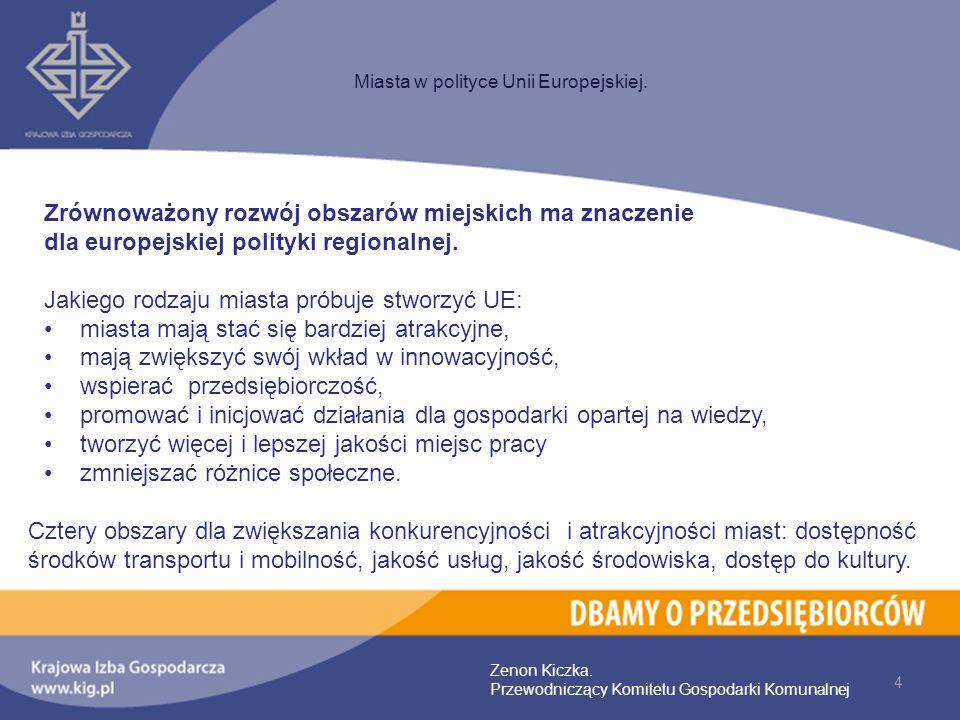 Zrównoważony rozwój obszarów miejskich ma znaczenie