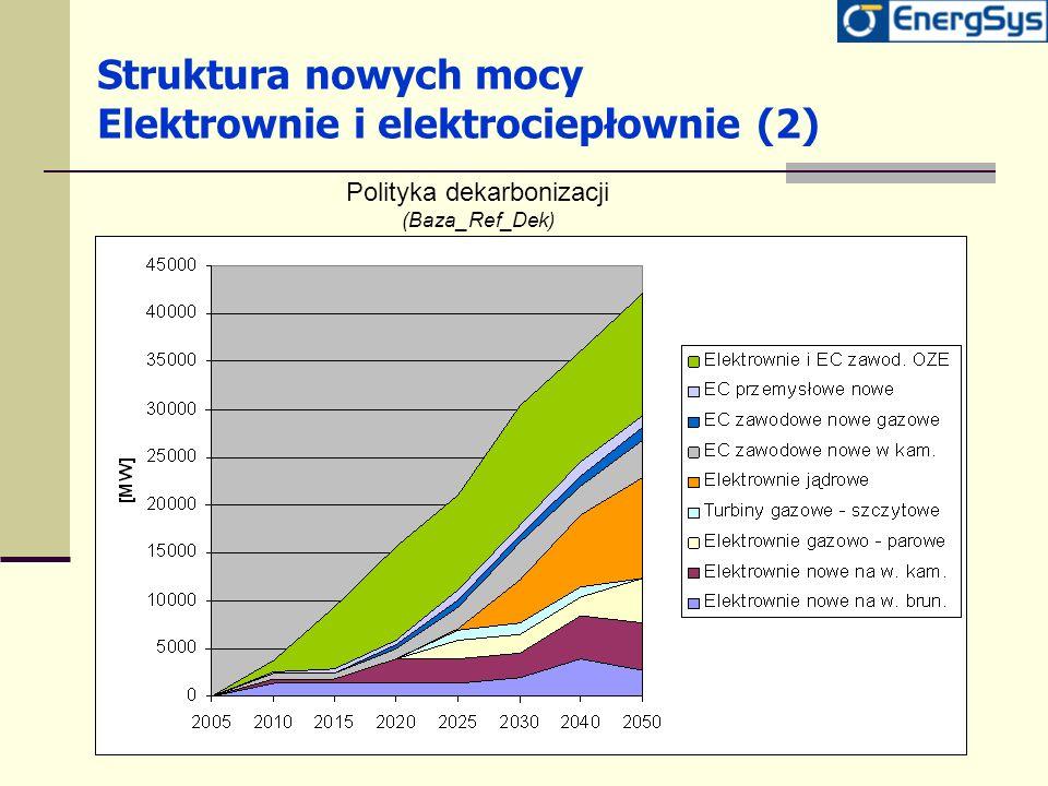 Struktura nowych mocy Elektrownie i elektrociepłownie (2)