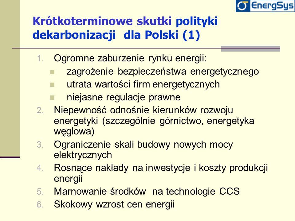 Krótkoterminowe skutki polityki dekarbonizacji dla Polski (1)