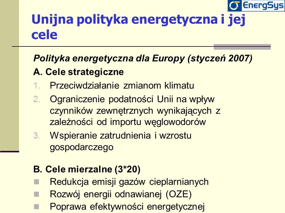 Unijna polityka energetyczna i jej cele