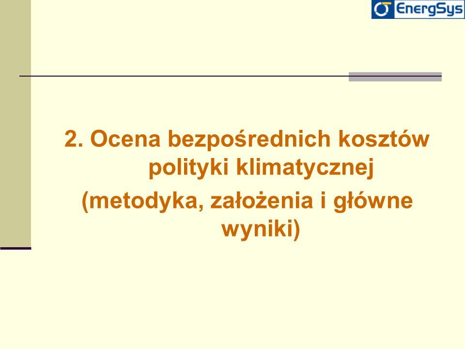 2. Ocena bezpośrednich kosztów polityki klimatycznej