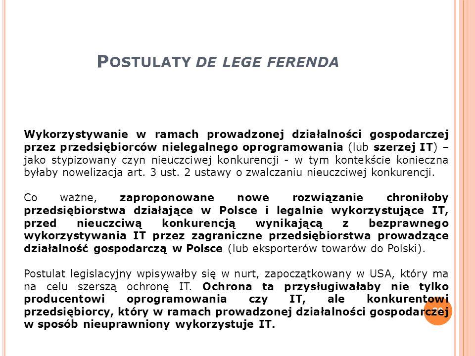 Postulaty de lege ferenda