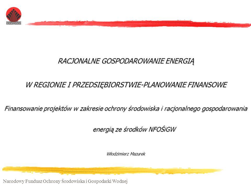 RACJONALNE GOSPODAROWANIE ENERGIĄ