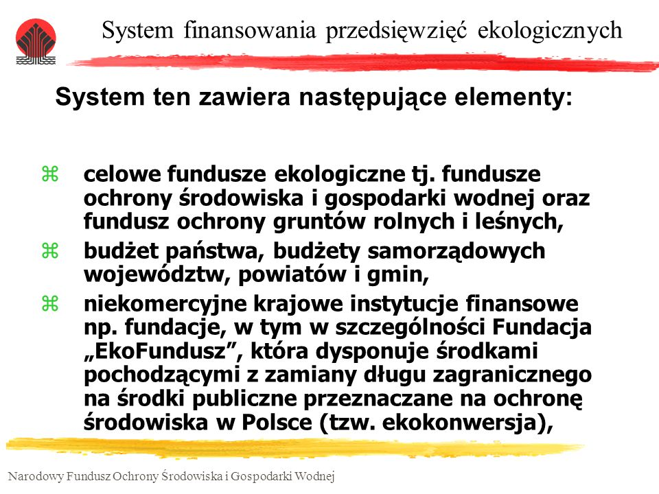 System ten zawiera następujące elementy: