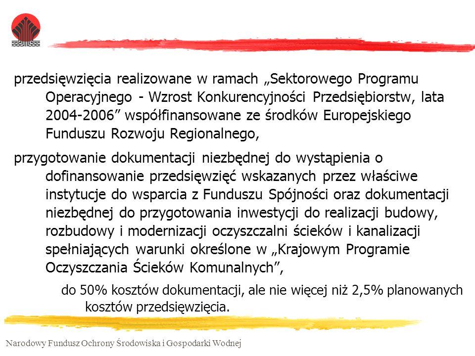 """przedsięwzięcia realizowane w ramach """"Sektorowego Programu Operacyjnego - Wzrost Konkurencyjności Przedsiębiorstw, lata 2004-2006 współfinansowane ze środków Europejskiego Funduszu Rozwoju Regionalnego,"""