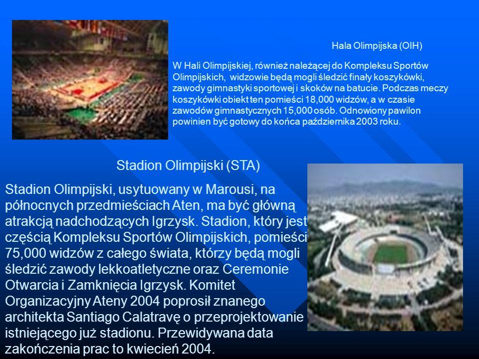 Hala Olimpijska (OIH) W Hali Olimpijskiej, również należącej do Kompleksu Sportów Olimpijskich, widzowie będą mogli śledzić finały koszykówki, zawody gimnastyki sportowej i skoków na batucie. Podczas meczy koszykówki obiekt ten pomieści 18,000 widzów, a w czasie zawodów gimnastycznych 15,000 osób. Odnowiony pawilon powinien być gotowy do końca października 2003 roku.