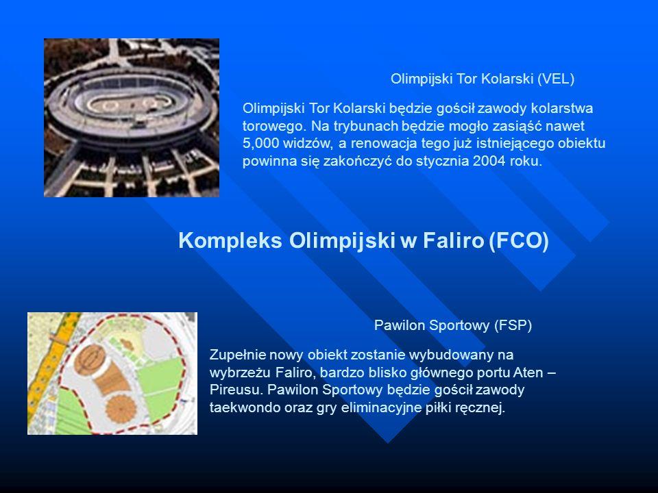 Olimpijski Tor Kolarski (VEL) Olimpijski Tor Kolarski będzie gościł zawody kolarstwa torowego. Na trybunach będzie mogło zasiąść nawet 5,000 widzów, a renowacja tego już istniejącego obiektu powinna się zakończyć do stycznia 2004 roku.