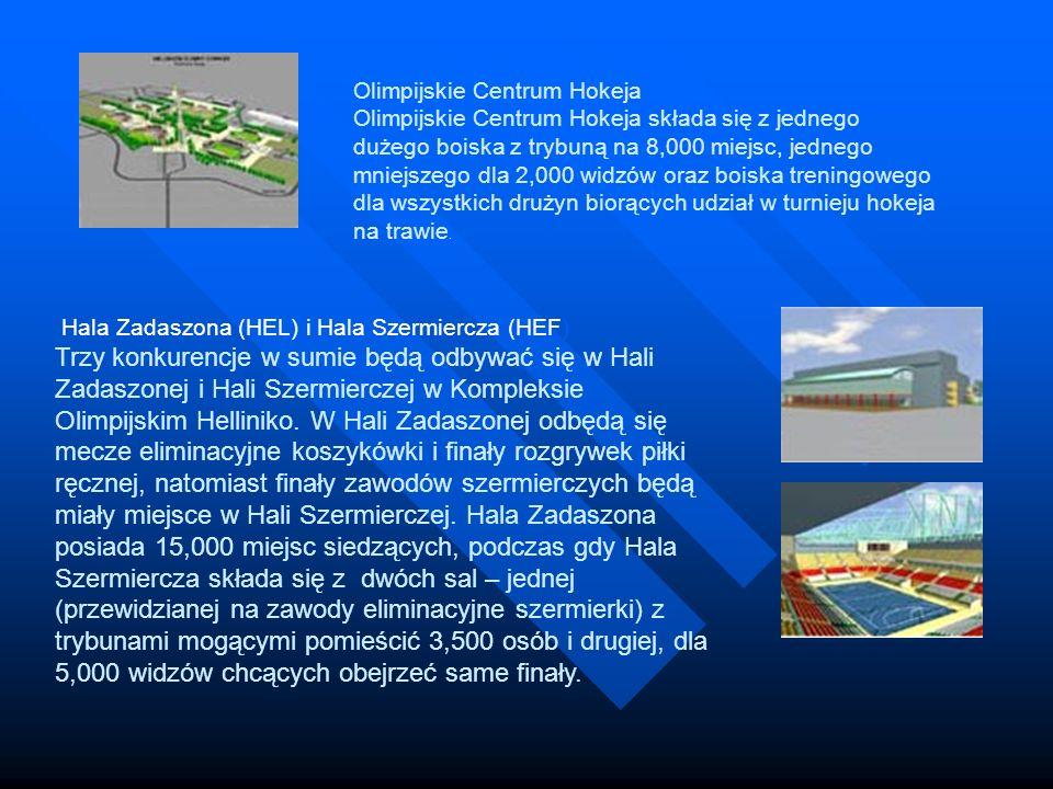 Olimpijskie Centrum Hokeja Olimpijskie Centrum Hokeja składa się z jednego dużego boiska z trybuną na 8,000 miejsc, jednego mniejszego dla 2,000 widzów oraz boiska treningowego dla wszystkich drużyn biorących udział w turnieju hokeja na trawie.