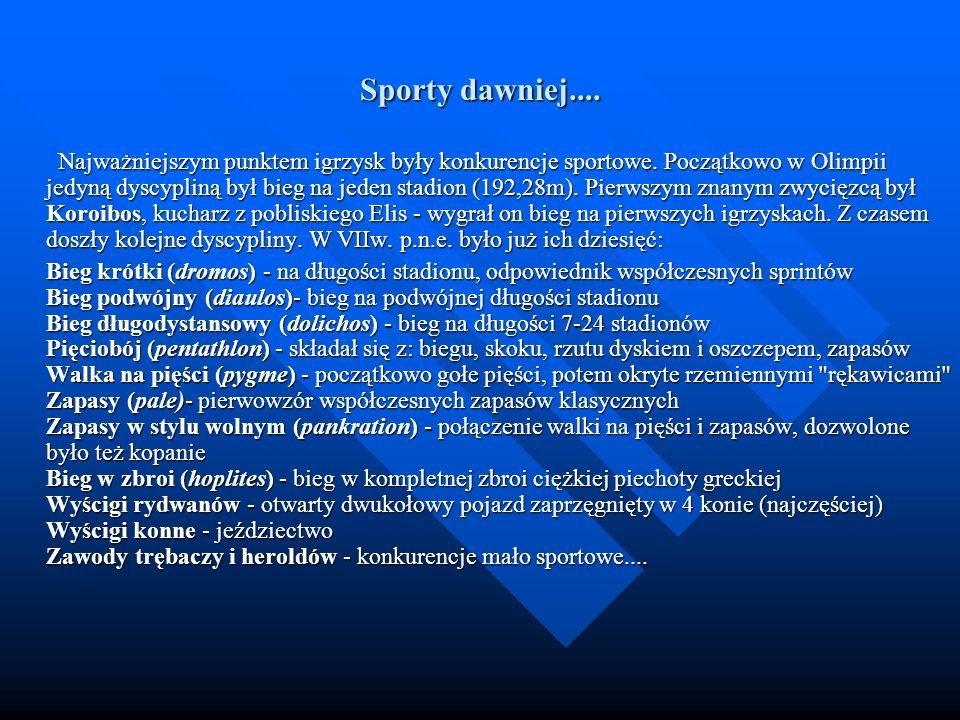Sporty dawniej....