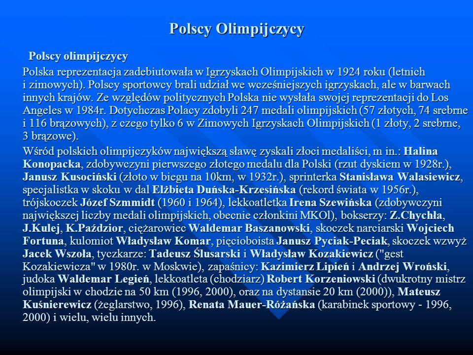Polscy Olimpijczycy Polscy olimpijczycy